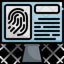 Fingerprint Law Justice Icon