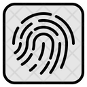Fingerprint Biometric Data Icon