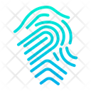 Biometric Fingerprint Touch Icon