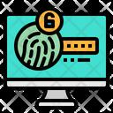 Fingerprint Scan Touch Icon
