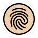 Fingerprint Biometric Verification Icon