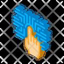 Fingerprint Identification Security Icon