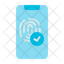 Fingerprint Computer Security Icon