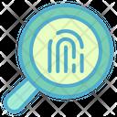 Fingerprint Scan Identification Icon