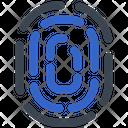Biometric Fingerprint Identity Icon