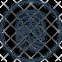 Criminal Fingerprint Identification Icon