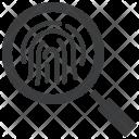 Fingerprint Id Forensic Icon