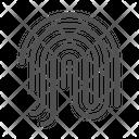 Fingerprint Security Biometric Icon