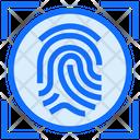 Fingerprint Biometric Scan Icon