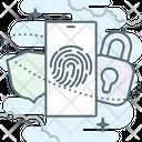 Fingerprint Lock Sequrity Icon