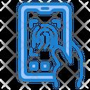 Fingerprint Mobile Lock Security Icon