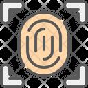 Fingerprint Biometric Id Icon