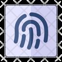 Fingerprint Trace Biometric Icon