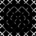Fingerprint Scan Biometric Icon