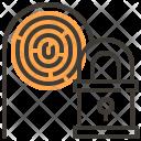 Fingerprint Key Locked Icon