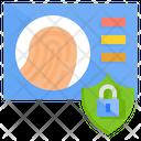 Fingerprint Biometric Digital Transformation Permission Security Technology Digital Security Icon