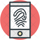 Fingerprint Representation Lock Icon
