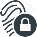 Fingerprint Lock Sign Icon