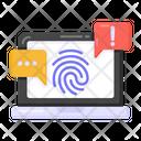 Fingerprint Error Fingerprint Alert Biometric Alert Icon