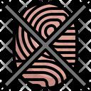 Fingerprint Cancellation Fingerprint Evidence Icon