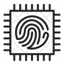 Fingerprint Checker Circuit Icon