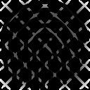 Fingerprint Computer Data Icon