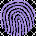 Fingerprint Data Computer Icon