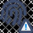M Fingerprint Error Fingerprint Error Fingerprint Warning Icon
