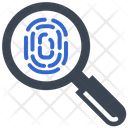 Evidence Fingerprint Investigation Icon
