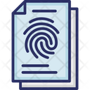 Fingerprint Identification Fingerprints Forensic Science Icon
