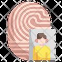 Fingerprint Identity Fingerprint Profile Icon