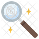 Fingerprint Investigation Icon