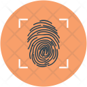 Fingerprint investigation Icon