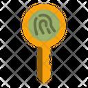 Fingerprint Key Icon