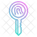 Key Digital Bitcoin Encryption Cryptocurrency Icon
