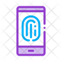 Fingerprint Scan Phone Icon