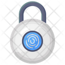 Fingerprint Lock Fingerlock Authentication Biometric Identification Icon