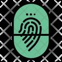 Fingerprint Identification Detective Evidence Interface Icon