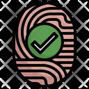 Fingerprint Matched Suspicious Criminal Icon