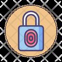 Fingerprint Padlock Fingerprint Secure Icon