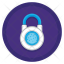 Fingerprint Padlock Icon