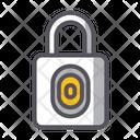 Fingerprint Padlock Secure Private Icon