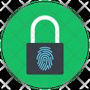 Fingerprint Lock Biometric Lock Private Lock Icon