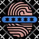 Password Fingerprint Identification Icon