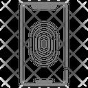 Fingerprint Phone Fingerprint Scan Biometric Lock Icon
