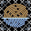 Fingerprint Scan Icon