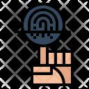 Fingerprint Scan Technology Icon