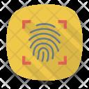 Fingerprint Scan Thumb Scanner Icon