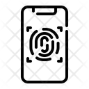 Fingerprint Scan Computer Security Icon