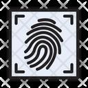 Identity Scan Fingerprint Icon